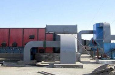 使用工地在新疆360万大卡热风锅炉